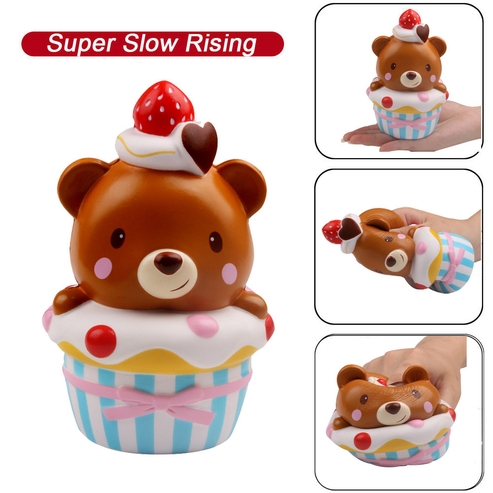 Squishies Adorable Bear Slow Rising Cream Squeeze Scented Stress Relief Toys Toanti-stress  Oyuncak Stationery Items A1
