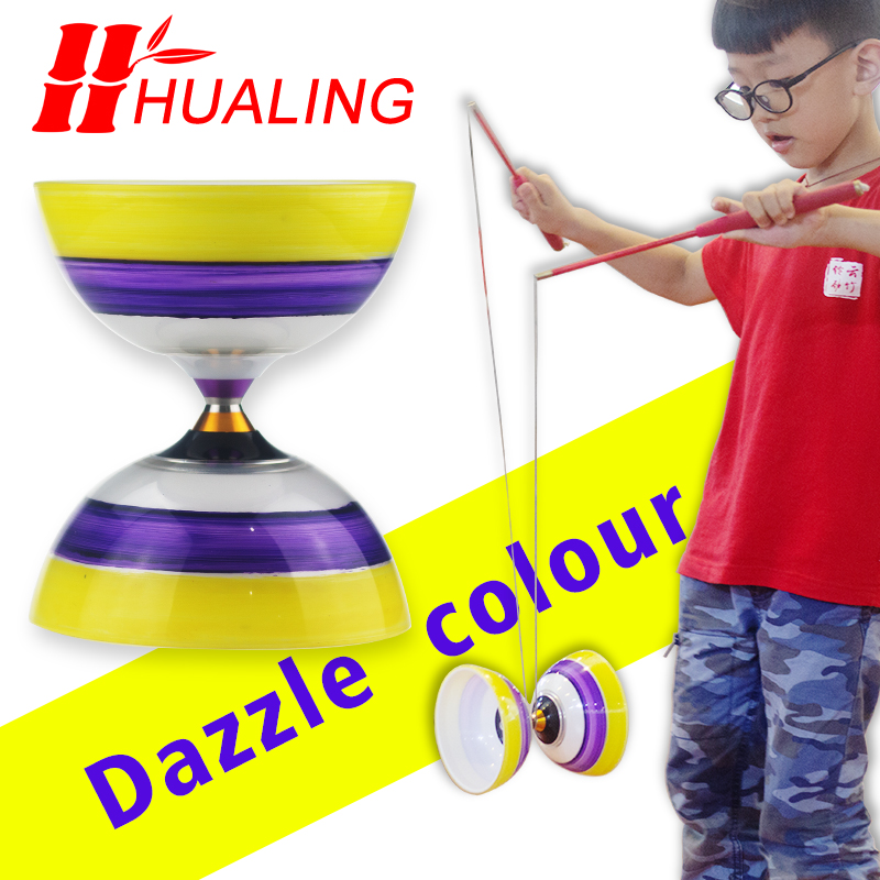 Chinese style 3Bearing Toys Professional Diabolo Set Packing with String Bag china
