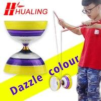 Китайский стиль 3 игрушка медведи профессиональный набор Diabolo упаковка с сумкой для струн Китай