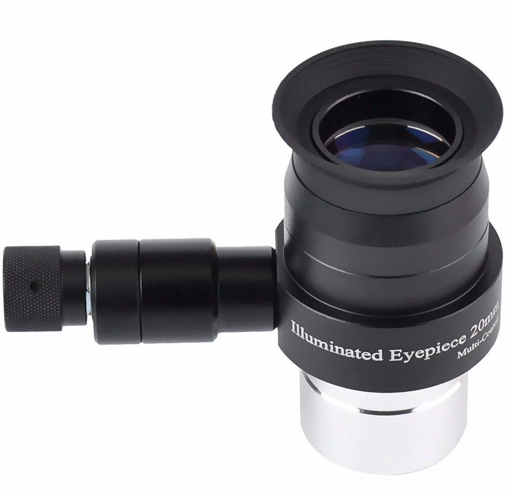 AQUILA 1.25 25mm Illmination Eyepiece Supper Plossl Adjustable Brightness LED Illuminator Monocular (without battery)