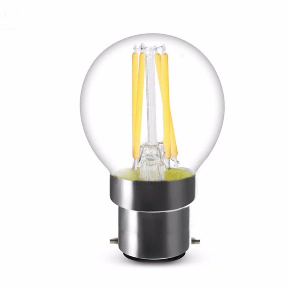 DHL Free,B22 E12 E14 E27,2W 4W,LED Filament Light Bulb,Edison G45 Style,Cool Warm White,Dimmable