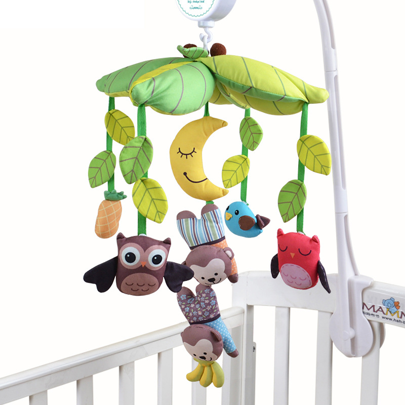 0-12 Month Baby Bed Stroller Hang Bell Stuffed Hanging Toys Plush Musical Crib Mobile Gift Educational Baby Toys