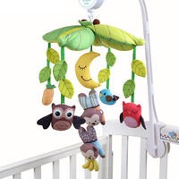 0 12 Month Baby Bed Stroller Hang Bell Stuffed Hanging Toys Plush Musical Crib Mobile Gift
