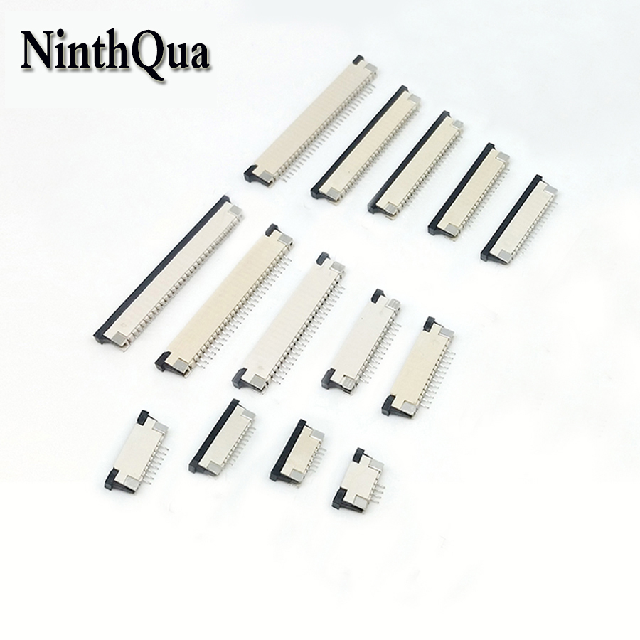 4pcs 0.5mm Pitch Up Drawer FPC FFC Flat Cable Connector Socket 4P 5P 6P 7P 8P 10P 12P 14P 16P 20P 22P 24P 30P 34P 40P45P 50P 60P4pcs 0.5mm Pitch Up Drawer FPC FFC Flat Cable Connector Socket 4P 5P 6P 7P 8P 10P 12P 14P 16P 20P 22P 24P 30P 34P 40P45P 50P 60P