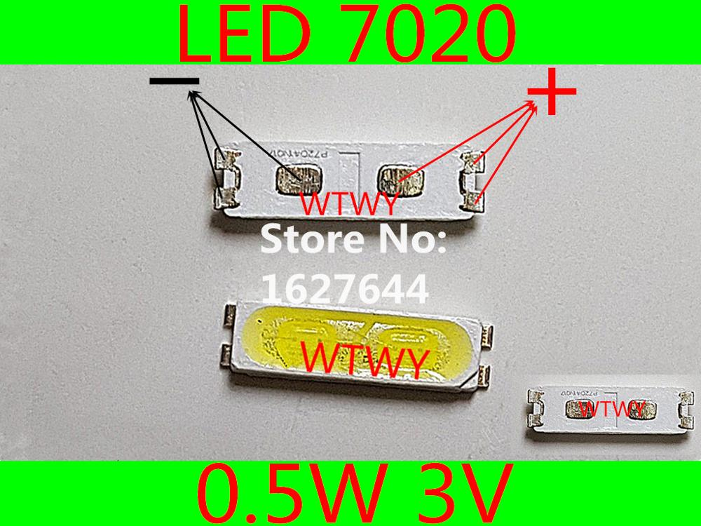 1000pcs Lextar Led Backlight Mid Power Led 0.5w 7020 3v Cool White 40lm Lcd Backlight For Tv Tv Application Active Components Diodes