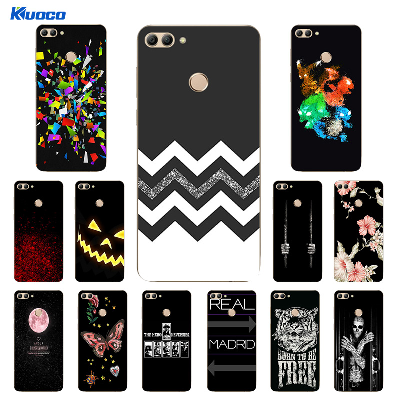 For Huawei Y9 2018 Clear TPU Phone Case for Enjoy 8 Plus FLA-AL00 AL10 AL20 Matte Cover 5.93 inch Coque Character Printing