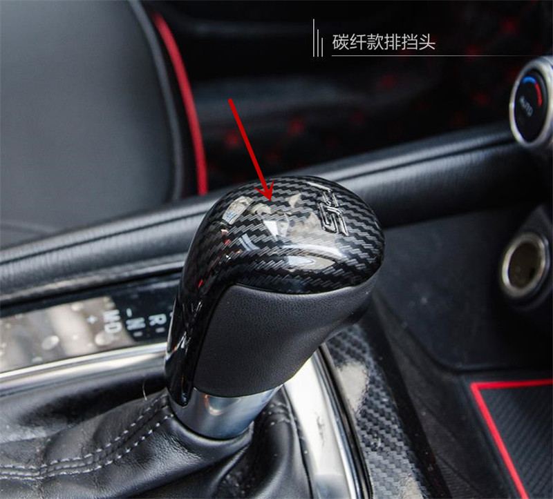 Car ABS interior gear head decorative cover for Mazda <font><b>CX</b></font>-<font><b>5</b></font> cx5 2015- <font><b>2018</b></font> Second generation Car styling image