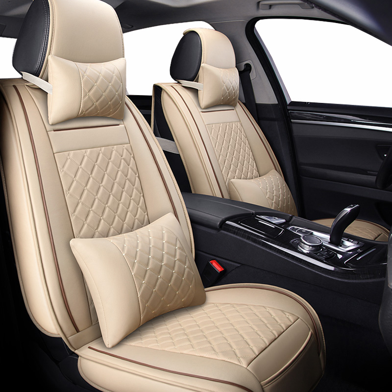 ( Front + Rear ) Special Leather car seat covers for <font><b>audi</b></font> a3 8l 8p <font><b>sportback</b></font> a4 <font><b>b8</b></font> avant <font><b>a5</b></font> <font><b>sportback</b></font> a6 4f tt mk1 A1 A3 A6 A7 image
