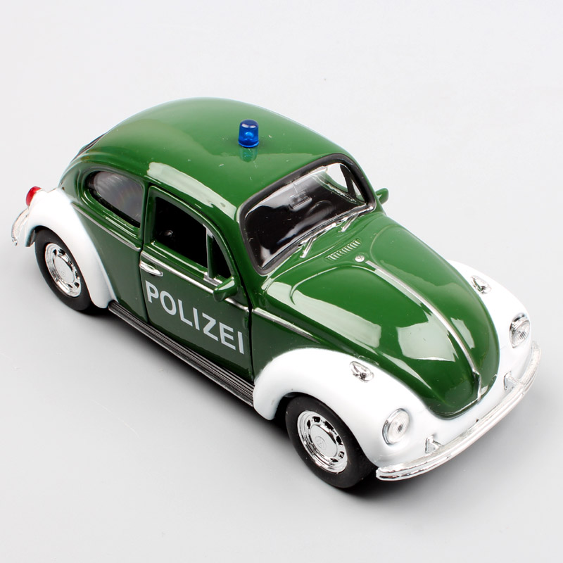 1/36 Scale Brand Welly Small Children Beetle Polizei Cars Superbug Diecasts & Toy Vehicles Pull Back Models Toys Gift For Boys