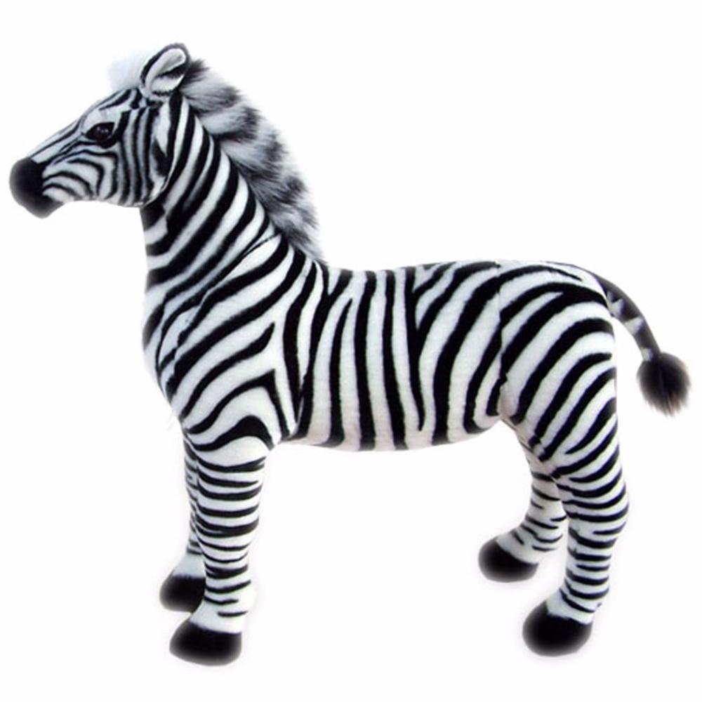 Jesonn реалистичные плюша Зебра животные лошадь игрушки для детей подарки на день рождения, 30 см