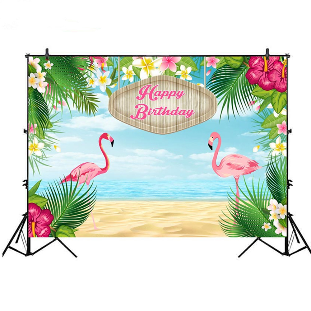 Enthusiastic Mehofoto Tropical Jungle Photography Backdrops Children Birthday Dessert Table Decor Photo Background Photocall Printed Photo Studio