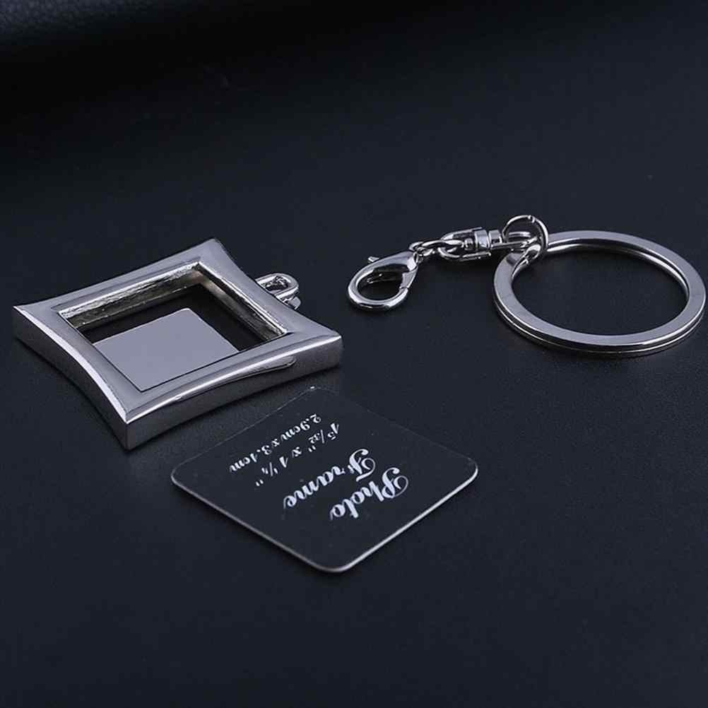 Новая горячая продажа DIY Вставка Фото Рамка для картин индивидуальный брелок подарок прямоугольный
