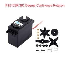 Feetech FS5103R 3kg. cm 360 градусов непрерывное вращение Радиоуправляемый мотор сервопривода аналоговый для робота умного автомобиля FZ3413