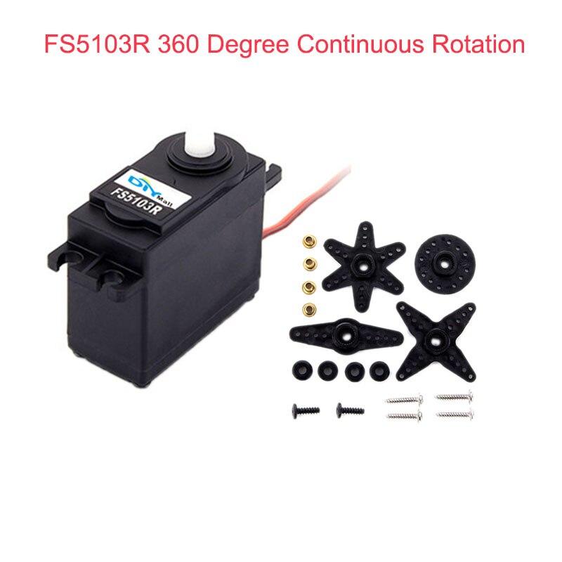 Feetech FS5103R 3kg.cm 360 Degree Continuous Rotation RC Servo Motor Analog For Robot Smart Car FZ3413