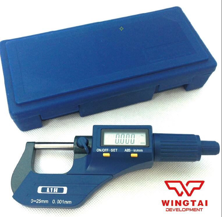 Korea Digital Outside Micrometer 0.001mm Resolution 0~25mm Micrometer Micron Thickness Gauge Measuring Tool