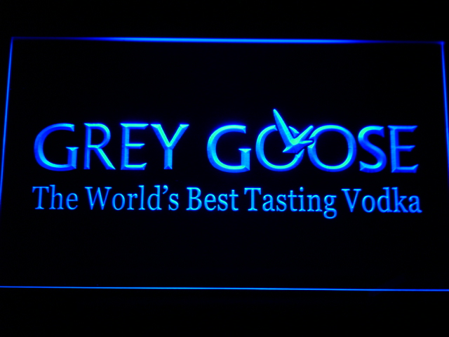 a216 Grey Goose Vodka LED Neon Sign with On/Off Switch 20+ Colors 5 Sizes to choose