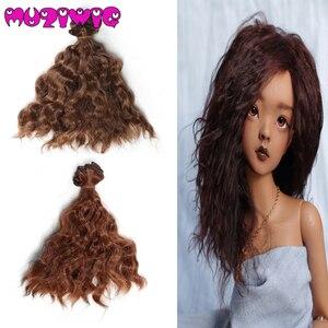 Черные, золотые, коричневые кучерявые волосы для кукол, 15 см, 1/3, 1/4 дюйма, BJD, аксессуары для кукол, аксессуары для кукол, высокая температура