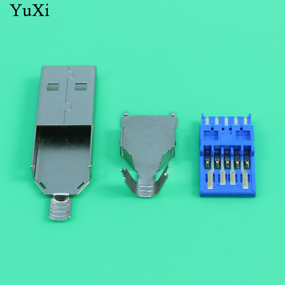Yuxi Diy Usb 30 Male Connector Jack Soldering Type Line Tail Wiring Socket 3 In 1 Computer Cables Connectors From Office On