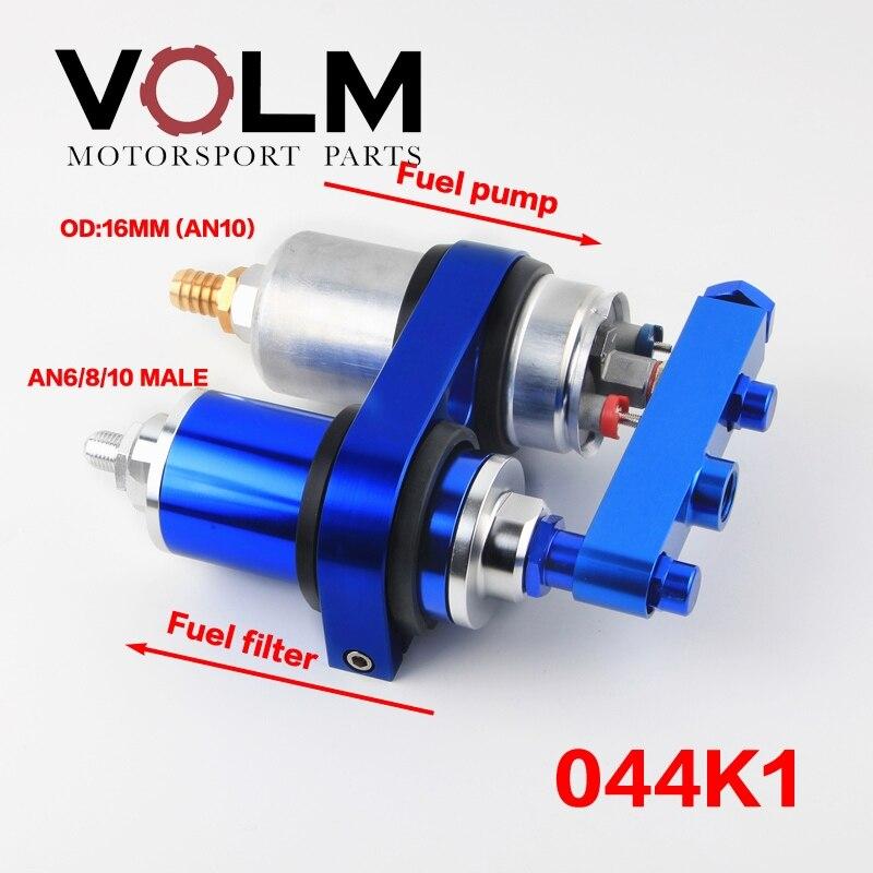 Pompe à carburant universelle 0580254044 à haut débit Double support 044 Double pompe filtre à carburant 300lph collecteur AN6