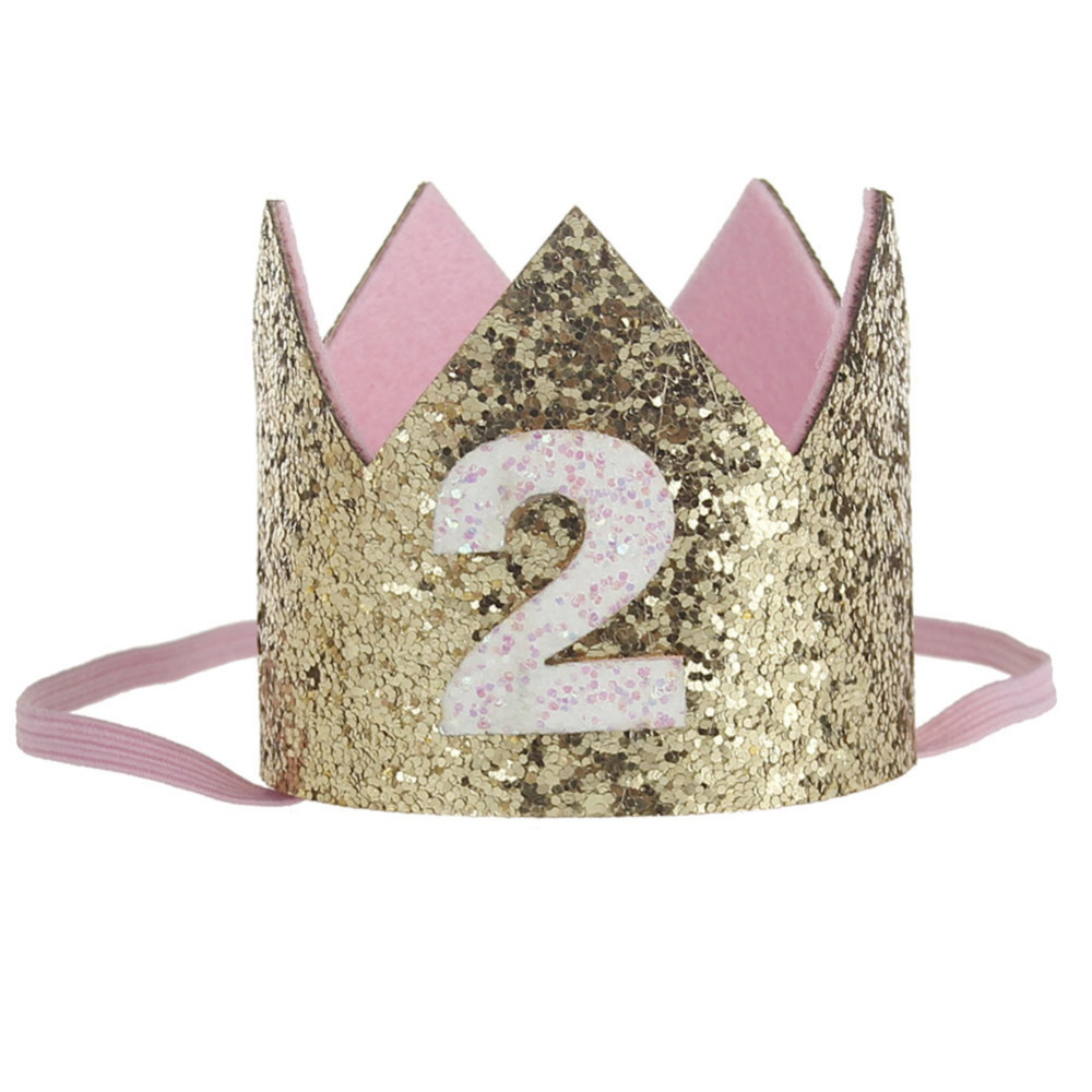 High Quality Baby Boy Girl Birthday Party Hat Gold Princess Prince Crown