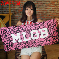 MLGB Towel Tide Card Leopard Leaves Large Red Fitness Hotel Basketball Football Towel Bath Towel