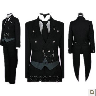 Black Butler Kuroshitsuji Undertaker Cosplay Costume Halloween Christmas