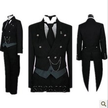 Free Shipping Cosplay Costume Black Butler Kuroshitsuji Undertaker New in Stock Retail / Wholesale Halloween Christmas free shipping 5pcs in stock lm2575s 12 lm2575s 5 0 lm2575 adj
