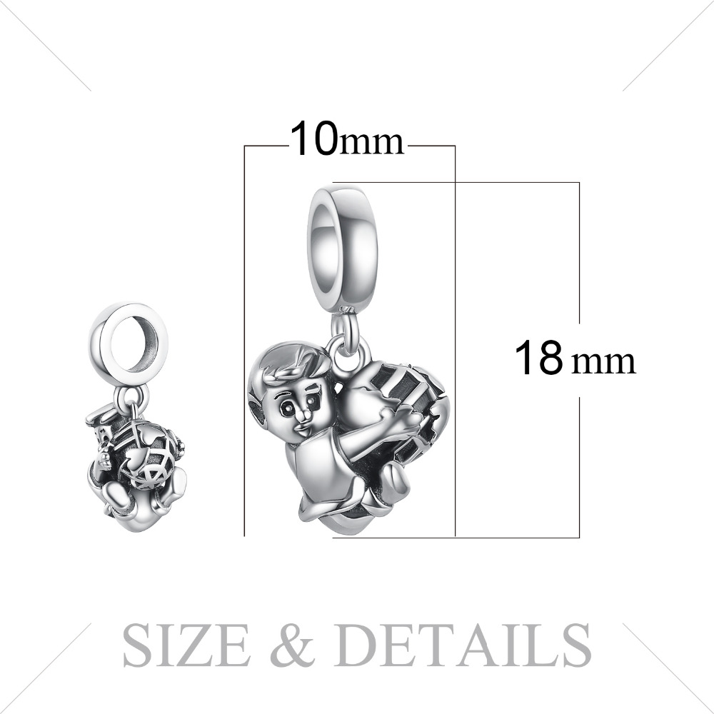 JewelryPalace Football Boy 925 Sterling Silver Beads Charms Silver 925 Original For Bracelet Silver 925 original Jewelry Making in Charms from Jewelry Accessories