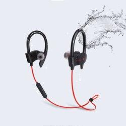 Słuchawki Bluetooth bezprzewodowe słuchawki zaczep na ucho sportowe odporny na pot Stereo douszne słuchawki z mikrofonem do biegania Fitness Słuchawki douszne i nauszne Bluetooth    -