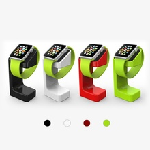 Apple Watch Stand Holder Dock, iXCC Charging Stand Station Cradle Platform for All Apple Watch 38mm / 42mm models- Black  green