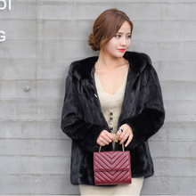 Marten full pelt short design mink fur overcoat hooded mink fur coat jacket outerwear female