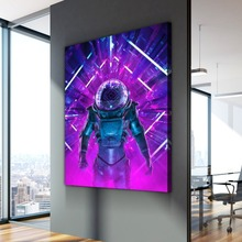 Nordic Poster Curious Astronaut Traveler Cuadros Decoracion Oil Paintings on Canvas Wall Art for Home Decorations Decor
