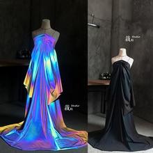 Градиентная светящаяся функциональная супер яркая цветная ткань для одежды, Высококачественная дизайнерская ткань для лоскутов