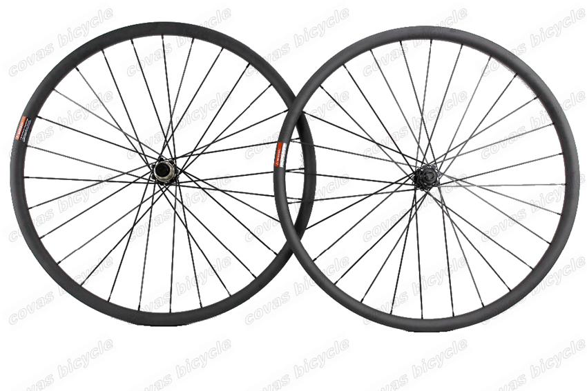 Asymmetric 29ER MTB AM carbon wheels 29inch 35mm width 28mm depth mountain bike hookless carbon wheelset with 791/792 boost hubs mtb 35mm wide mtb 29er mtb carbon wheels 32h 32h 3k clincher 25mm deep 29inch xc am dh wheelset
