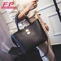 2016 Women's Handbag Autumn And Winter Fashion PU Tote Bucket Bag Casual Solid Shoulder Bags High Quality Women Messenger Bag