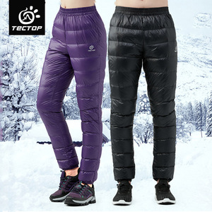 Image 2 - TECTOP ultralight Duck Down Pants Men Winter Down Trousers Cold Wether Snow Camping Outdoor Light Warm Soft Thermal Pants Black