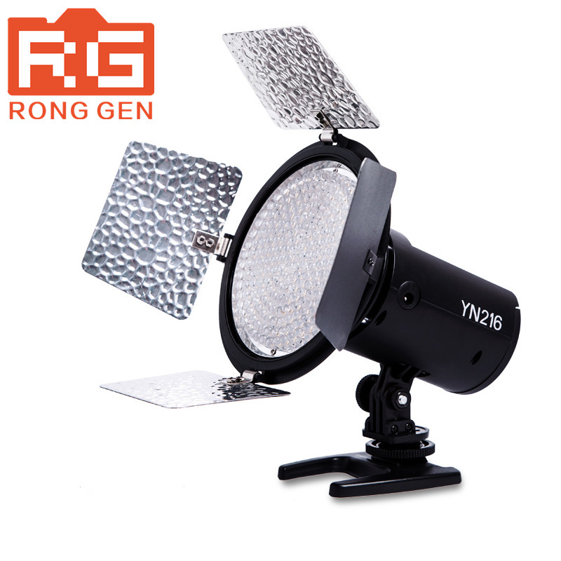 YONGNUO YN-216 YN216 LED Video Camera Light Adjustable 3200K-5500K Color Temperature for Canon Nikon DSLR Camera Yongnuo LED yongnuo yn300 air 3200k 5500k yn 300 air pro led camera video light with np f550 battery and charger for canon nikon