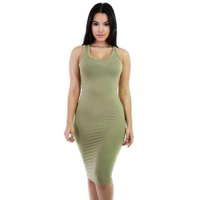 2017 Для женщин майка длинное платье карандаш сексуальный сарафан продать платье-майка без рукавов оболочка Bodycon летнее платье 2017 одноцветное вечернее платье