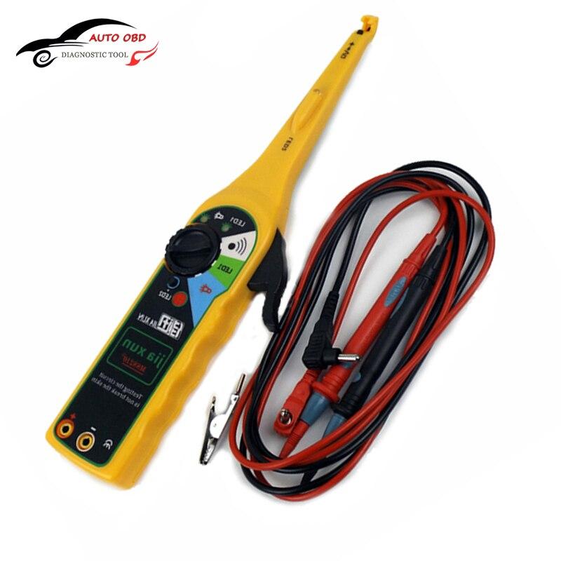 ᗑAmarillo multi-función de circuito auto tester multímetro lámpara ...