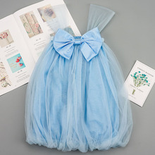 Baby Dress Cute Bow-knot Lace Princess Pageant Dress Kid Clothes for Girls Strap Mesh Summer Dresses girls ruffle knot back mesh overlay dress