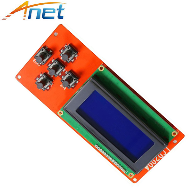 LCD2004 Module Screen Controller Control Panel 3D Printer Kit Smart Parts RAMPS 1.4 For Anet LCD2004 LCD Blue Screen