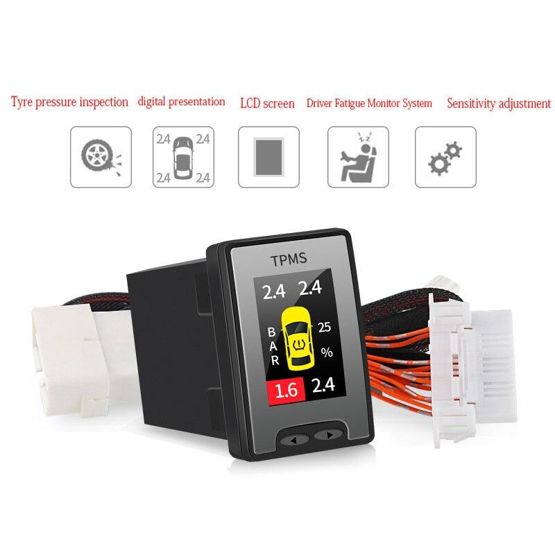 Digital Sistemas de Monitor de Pressão Dos Pneus TPMS OBD para Mitsubishi Outlander 2013-2018 da Pressão Dos Pneus Sistema de Monitoramento em tempo real-
