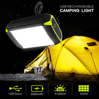 Rechargeable 6000mAh USB Port Camping Light Mobile Power Bank Flashlight Outdoor Hanging 30 LEDS Portable Lantern Tent Lamp