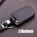 Leather Car Keyring For Kia Rio K5 Ceed Cerato Sorento Soul Bongo Shuma Carens Key Chain Protector Cover Case Sticker Key Rings