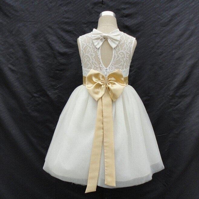 Новые брендовые Платья с цветочным узором для вечерние девочек с бантом и вырезом на спине, праздничное платье для маленьких девочек, детское платье для причастия