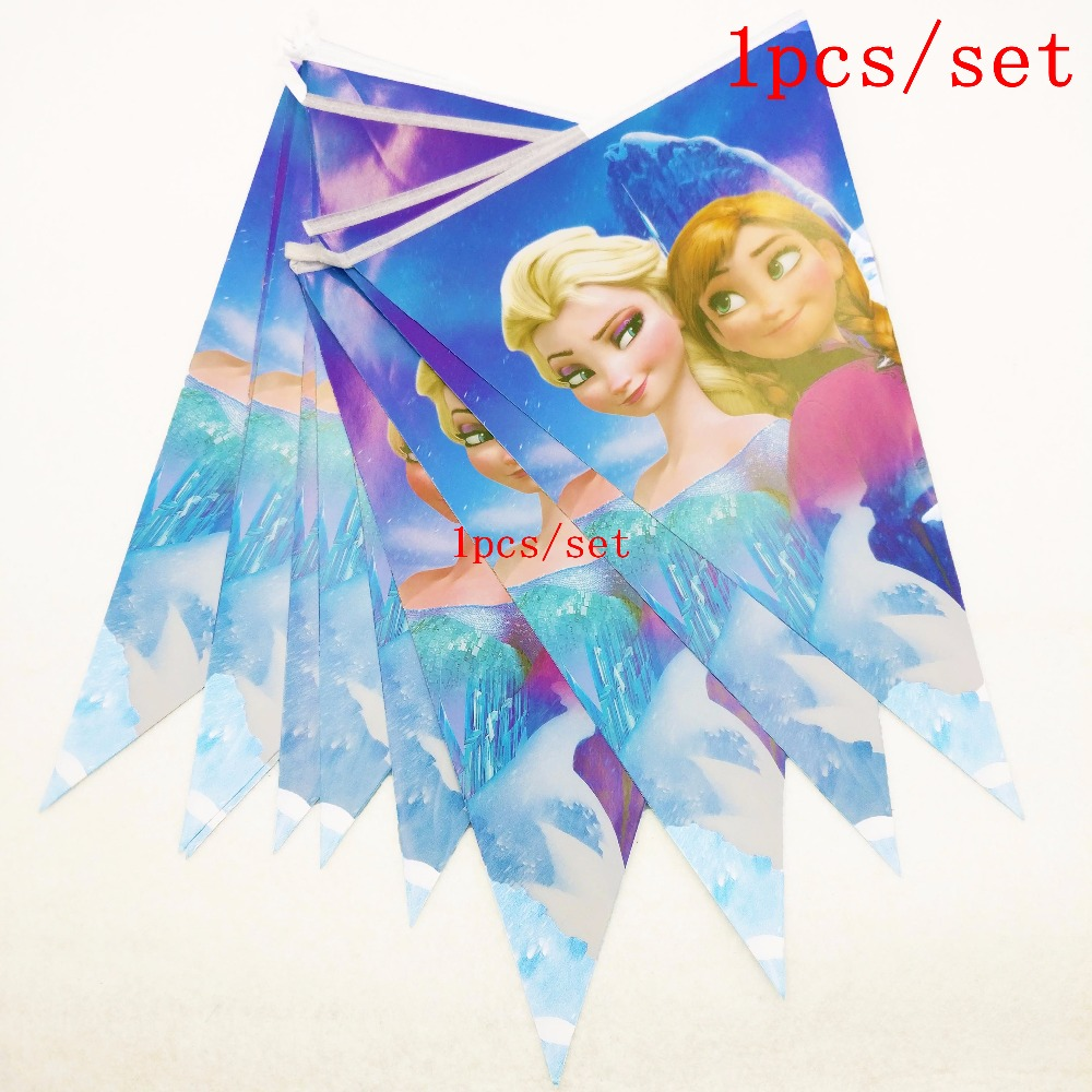 108x180cm frozen party supplies Elsa Anna Tablecloth Theme Party For Kids Happy Birthday Decoration Elsa Anna Party Supplies in Disposable Party Tableware from Home Garden