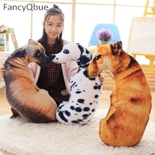 1 PC 3D Animal Cat Dog Shape Throw Pillow Cotton Plush Soft Office Cushion Gift Cute Sofa Home Decor