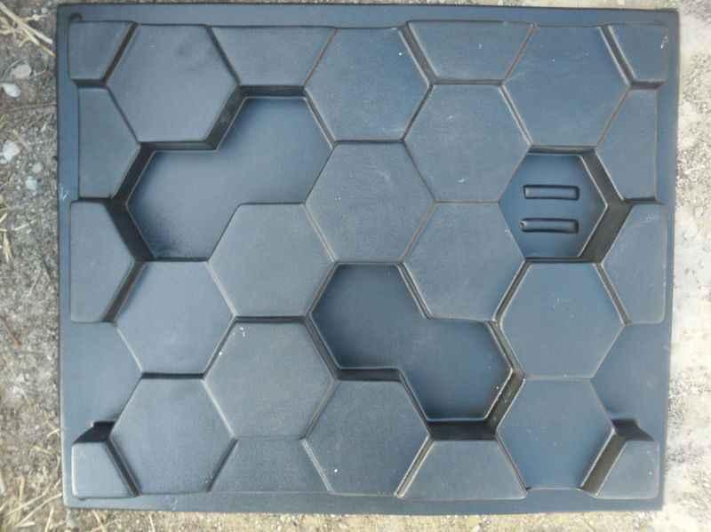 "2pcs 3D פלסטיק עובש גבס 3D דקורטיבי קיר בלוק פנלים ""רשת"" חדש עובש עיצוב 2017 שנה"