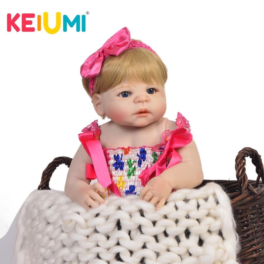 Hot Sale 23 57 cm Lifelike Reborn Doll Full Silicone Body Real Looking Newborn Girl Babies