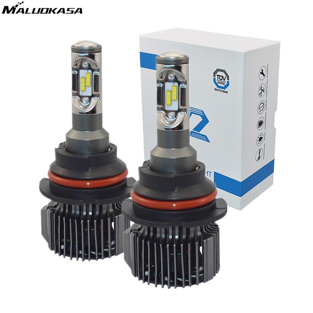 MALUOKASA V2 LED Car Bulbs 6000K White CSP Chips H7 9005/HB3 9006/HB4 H8 H4 H1 H3 H11 D1 Hi/Lo 72W Auto LED Headlight Fog Lamp xencn h7 9005 hb3 9006 hb4 hi lo beam h4 led car bulbs 6000k csp chips 52w headlight kits auto h8 h9 h11 led 9012 fog lamps